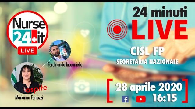 24 minuti Live - Marianna Ferruzzi CISL FP 28 aprile 2020