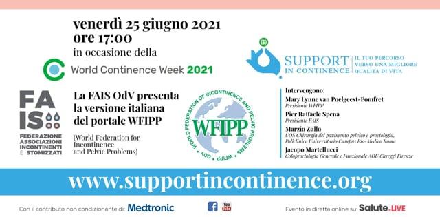 Incontinenza: FAIS presenta supportincontinence.org
