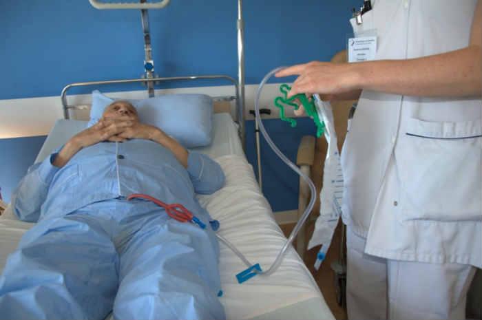 Movimentazione del paziente portatore di catetere vescicale