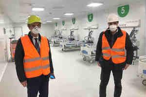 Inaugurato il nuovo ospedale alla Fiera a Milano