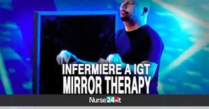 Emanuele, l'infermiere giocoliere che incanta con uno specchio